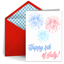 July Fourth Fireworks card image