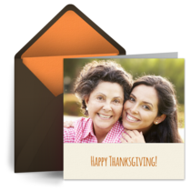 Happy Thanksgiving Photo card image