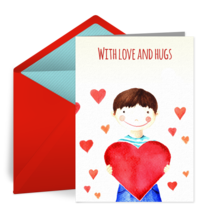Sympathy Love & Hugs card image