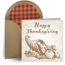 Thanksgiving Cornucopia card image