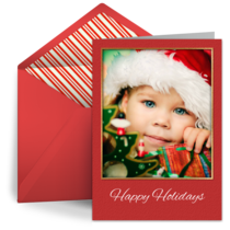 Happy Holiday Family Photo card image