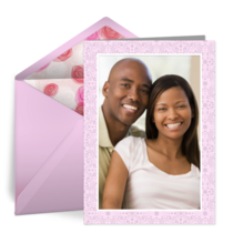 Engagement Photo Pink Print card image