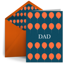 Birthday Balloons for Dad card image