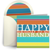 Happy Birthday Husband card image