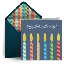 Birthday Candles card image