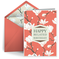 Belated Flower Pattern card image