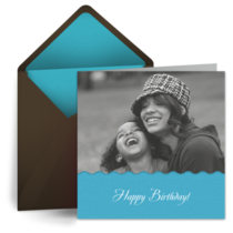 Birthday Photo Wave card image