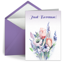 Just Because Bouquet card image