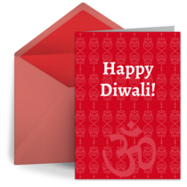 Decorative Diwali card image
