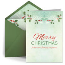 Holly Berries card image
