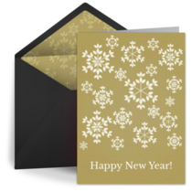 Gold Snowflakes card image