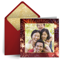Firecrackers Photo card image