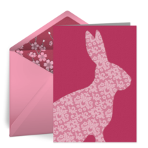 Easter Rabbit card image