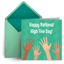 National High Five Day | April 18 card image