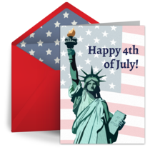 Retro Statue of Liberty card image