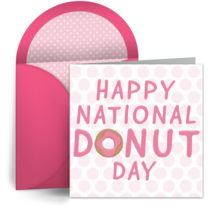 Pink Donut card image