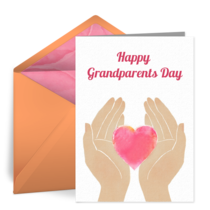 Grandparents Guiding Hands card image