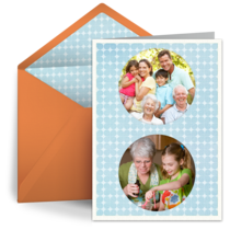 Grandparents Day Photo Circles card image