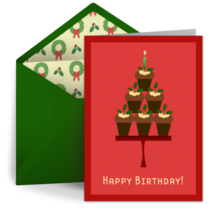 Christmas Birthday card image