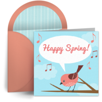 Happy Spring card image