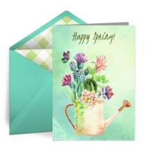 Spring Watering Can card image