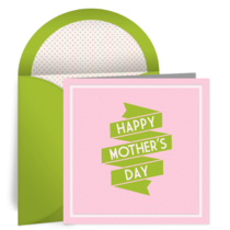 Retro Mother's Day card image