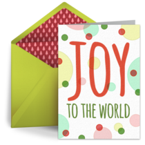 Christmas Dots card image
