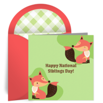 National Siblings Day | Apr 10 card image