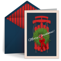 Merry Christmas Sled card image