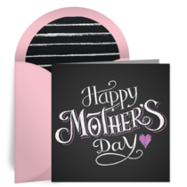 Mother's Day Chalkboard card image