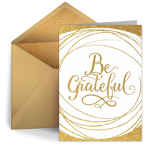 Gold Be Grateful card image