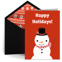 Winter Snowman card image