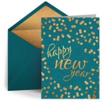New Year's Dots card image