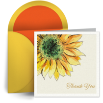 Thanks Teacher Sun Flower card image