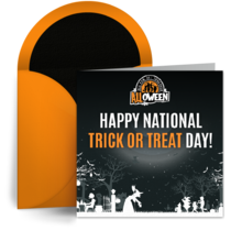 National Trick or Treat Day | October 26th card image