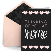 Thinking of You at Home Hearts card image