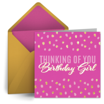 Thinking of You Birthday Girl card image