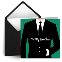 Brother's Day Gentleman card image