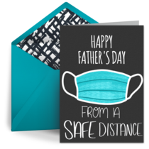 Father's Day from a Distance card image