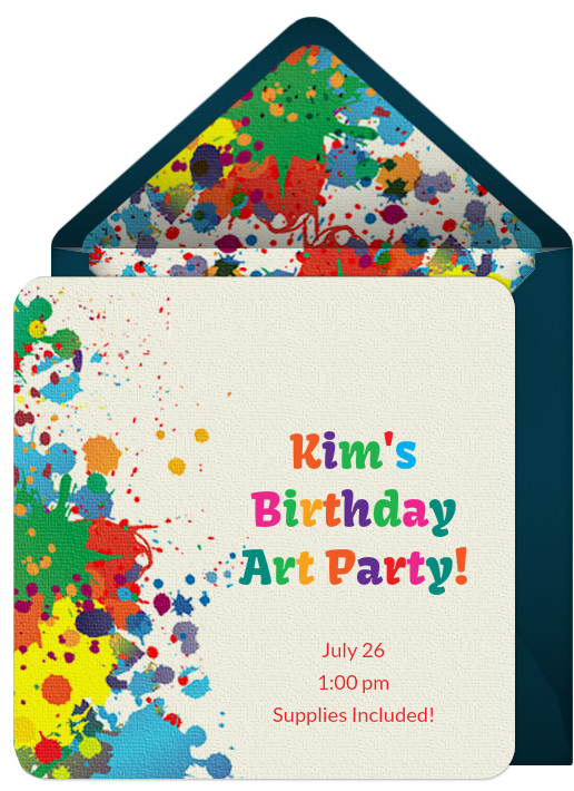 free online invitation birthday party