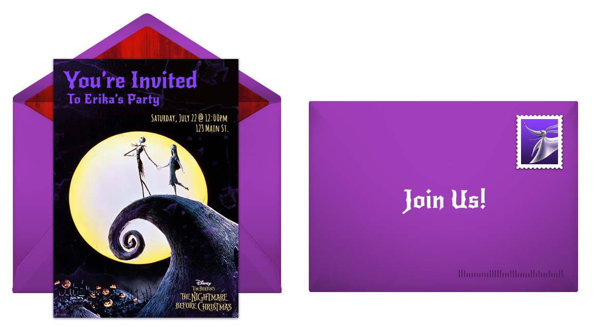 Disney Nightmare Before Christmas Free Online Invitation