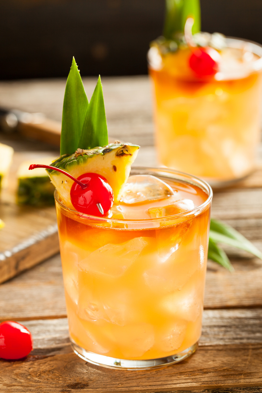 Homemade Pineapple Mai Tai Cocktail