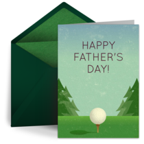 Father's Day Golf card image