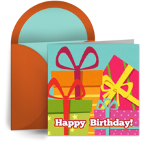 Colorful Birthday Presents for Him card image