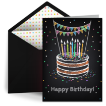 Birthday Cake card image