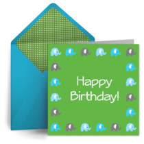 Birthday Elephant card image