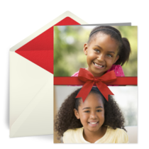 Christmas Photo with Ribbon card image