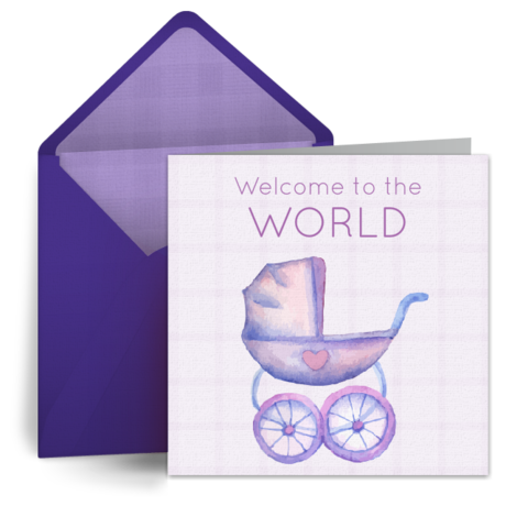 Congratulations new baby cards free welcome baby ecards baby welcome to the world m4hsunfo