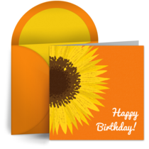 Birthday Sun Flower card image