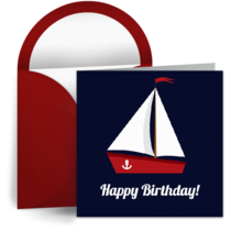 Sailboat for Him card image